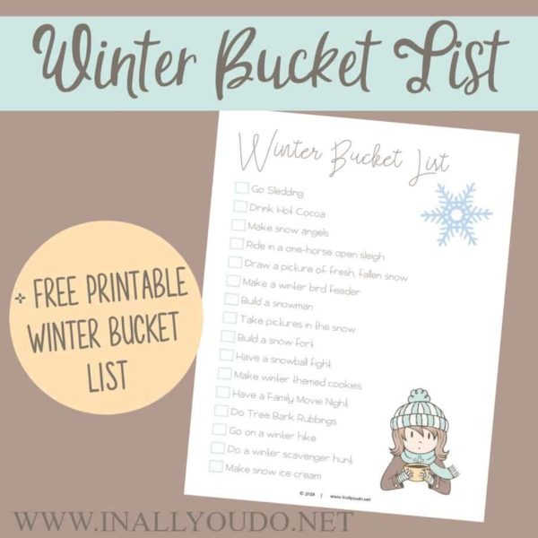 Don't know where to start or how to create a winter bucket list? We can help! This simple, yet fun bucket list includes some wonderful family fun for all ages! #winter #bucketlist #winterbucketlist #family