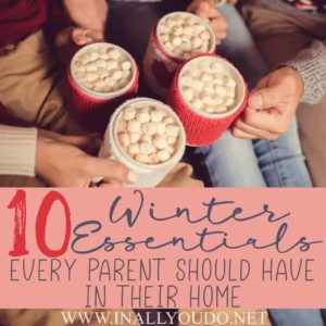 With a simple trip to the store and a quick peek around the house you should have what you need on hand. But just in case, here are the 10 winter essentials we keep in our home to make those winter months more bearable. #winter #parents #family #home