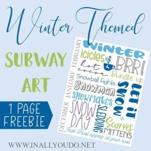 Winter Subway Art Printable