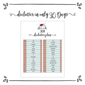 30-Day Declutter Challenge Plan