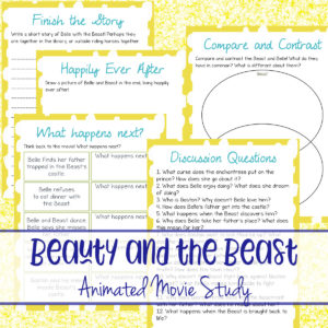 Beauty & the Beast Animated Movie Study