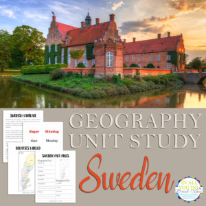 Sweden Geography Unit Study