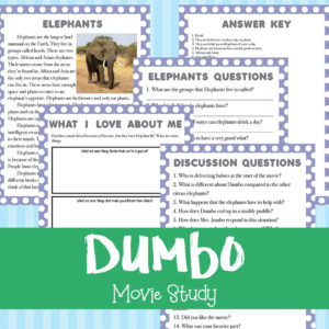 Dumbo Movie Study Based on the Original Movie