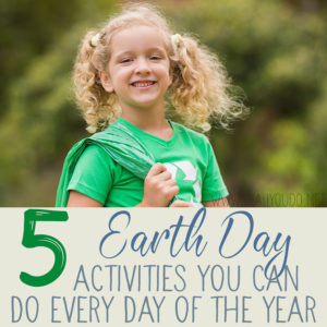 Earth Day may only come once a year, but that doesn't mean you can't do something each and every day. If you want to teach your family about caring for the planet where we live, here are five activities that can be done any day of the year. #iaydcommunity #iaydhomeschoolers #iaydhsmoms #earthday