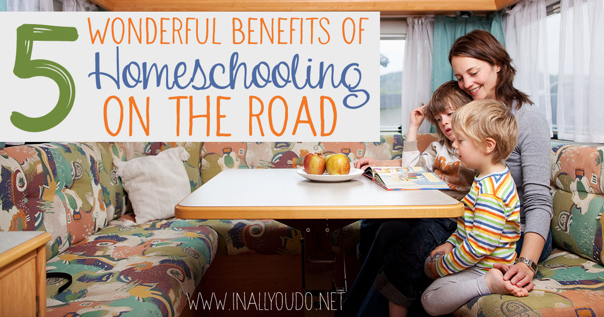 Spring and summer are a great time to take a family trip. And as homeschoolers, you can easily take a long trip without having to miss a beat in your studies! These are just 5 of the wonderful benefits we've found of homeschooling while on the road! #homeschoolers #homeschooling #iaydcommunity #iaydhsmoms #iaydhomeschoolers