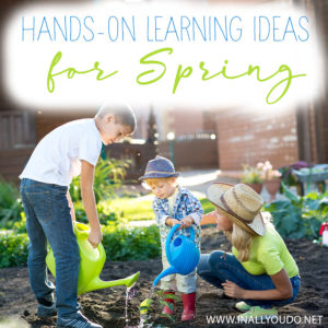 Spring is a great season for hands-on activities in the classroom and there are a several different ways you can get hands-on in your homeschool without having to spend a lot of money. Many of these ideas are free or cost very little, but all of them will make your lesson plans way more fun! #Spring #homeschoolers #iaydhsmoms #iaydhomeschoolers #iaydcommunity #handsonlearning