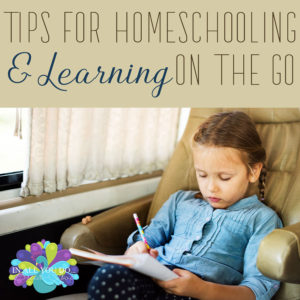 We love the flexibility that homeschooling gives our family. But sometimes we have to take our school on the road with us. Whether for doctor's appointments, running errands or taking a trip, there are ways you can continue your schooling on the go! #learning #homeschooling #iaydhomeschoolers #roadschooling