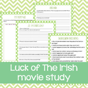 """The Luck of the Irish"" Movie Study"