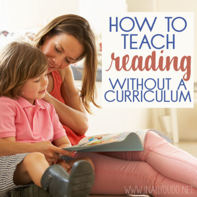 How to Teach Reading without a Curriculum