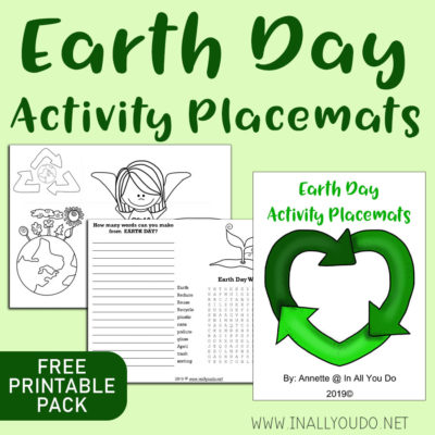 Earth Day Activity Placemats