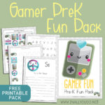 Gamer PreK Fun Pack – FREE Printable