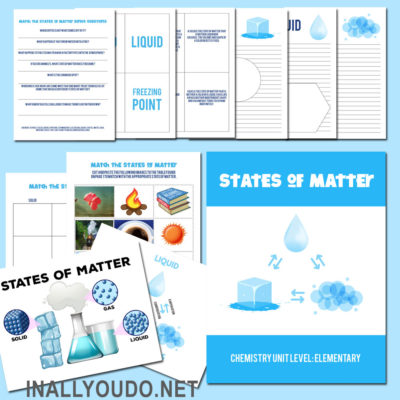 States of Matter Chemistry Unit for Elementary