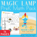 Aladdin Inspired Magic Lamp PreK Math Pack