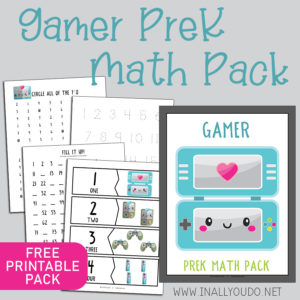 Gamer Fun PreK Math Pack