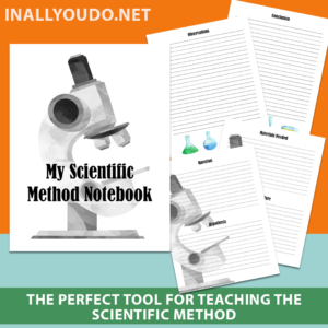 The 5-page Scientific Method Notebook printable pack includes a cover page and four pages for recording each step of the scientific method. These printable pages can be used over and over for each experiment your kids want to conduct. #science #scientificmethod #iaydhomeschoolers #iaydhsmoms