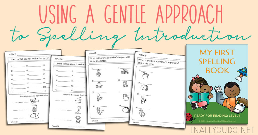 My First Spelling Book blends perfectly with phonics instruction--so that your child is building both reading and writing skills simultaneously! Regardless of what phonics curriculum you're using, this will be an excellent compliment and provide a gentle, fun introduction to spelling! #spelling #curriculum #iaydhomeschoolers #iaydhsmoms