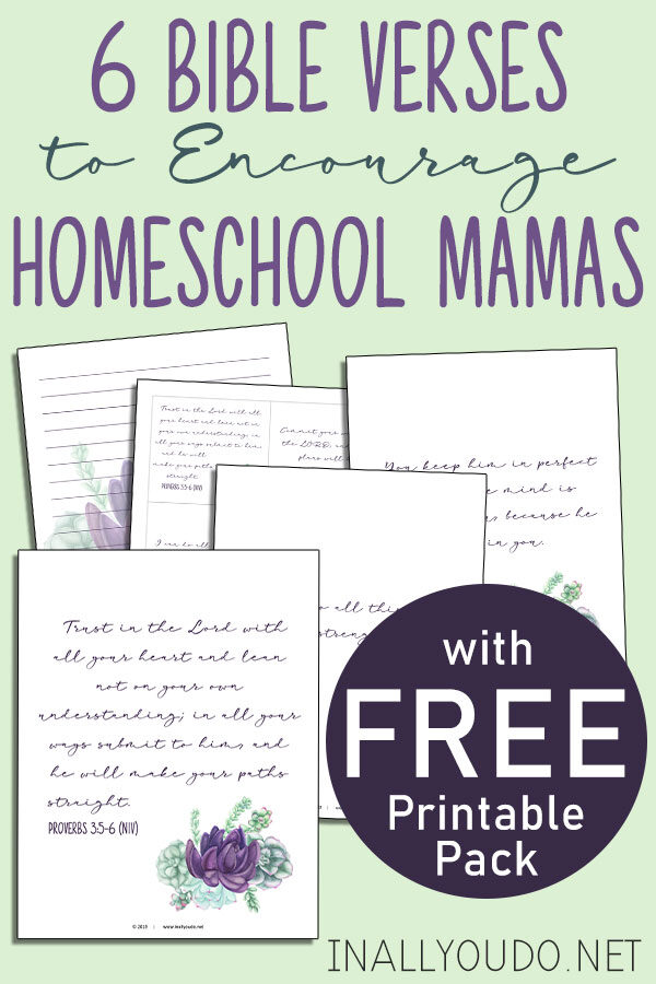 photo regarding Free Printable Bible Verses Handwriting named 6 Bible Verses towards Stimulate Homeschool Mamas With Absolutely free