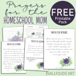 10 Prayers for the Homeschool Mom