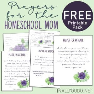 Prayers for the Homeschool Mom Pack