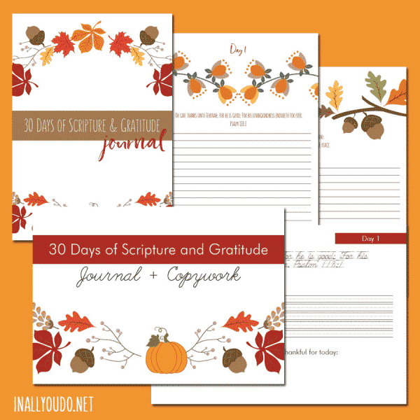 These Mommy & Me Gratitude Journals are the perfect pairing for mothers and their children. They were created just for you and your child to do together! I hope as you work your way through, you will grow in the Lord Jesus Christ as you contemplate His words and His blessings.#Bible #gratitude #iaydhomeschoolers #iaydcommunity