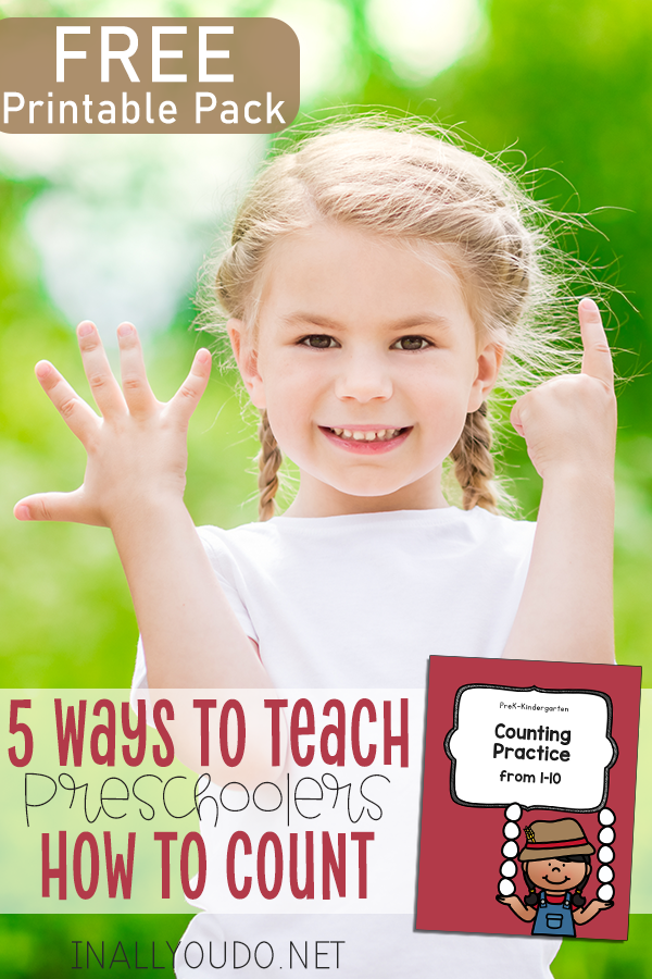 Counting is one of those basic skills kids need to learn. But what if they're struggling? Here are 5 ways we have used counting in everyday tasks to teach our kids over the years. Plus, download a counting practic pack for numbers 1-10! #counting #numbers #iaydhomeschoolers #preschoolers
