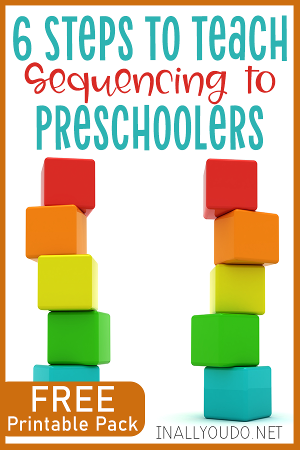 Learning how to put things in sequential order is not only an important part of development, it is a skill they will need throughout their life. These steps will help you get started and give your little ones a solid foundation in sequencing. #preschoolers #kindergarten #sequencing #iaydhomeschoolers