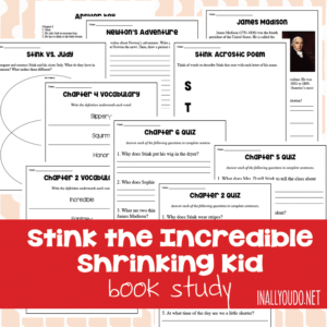Stink the Incredible Shrinking Kid Book Study