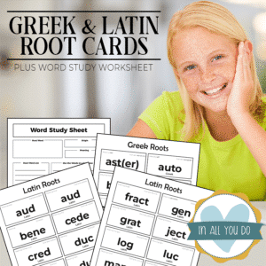 Greek & Latin Roots Review Pack