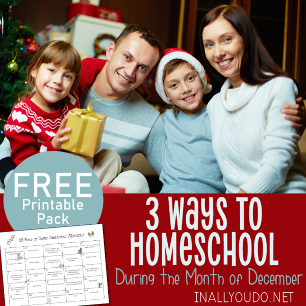 December seems to be one of the most difficult months to homeschool for us. Whether it's because of the influx of holidays and family gatherings or we all just need a nice break, I'm not sure. But we finally have a routine that works well for us! #iaydhomeschoolers #iaydhsmoms #iaydcommunity #homeschoolers