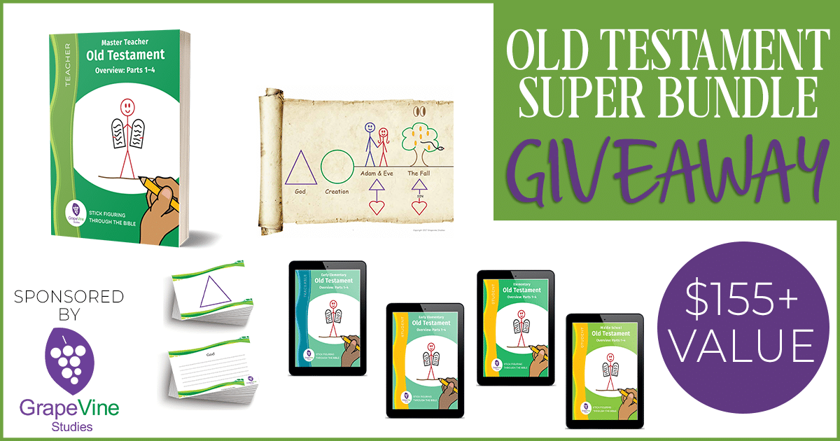 "images of Grapevine Studies Old Testament Super Bundle with ""Giveaway"" Overlay"
