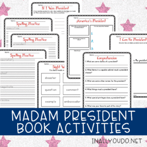 Madam President Book Study Printable Pack