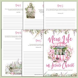 New Life in Jesus Christ Mommy & Me Scripture Journals