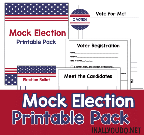Mock Election Printable Pack sample pages