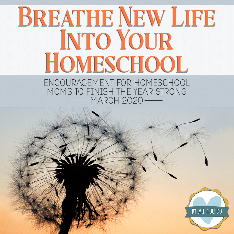 Join us during the entire month of March for encouragement, help and tips for reviving your homeschool.