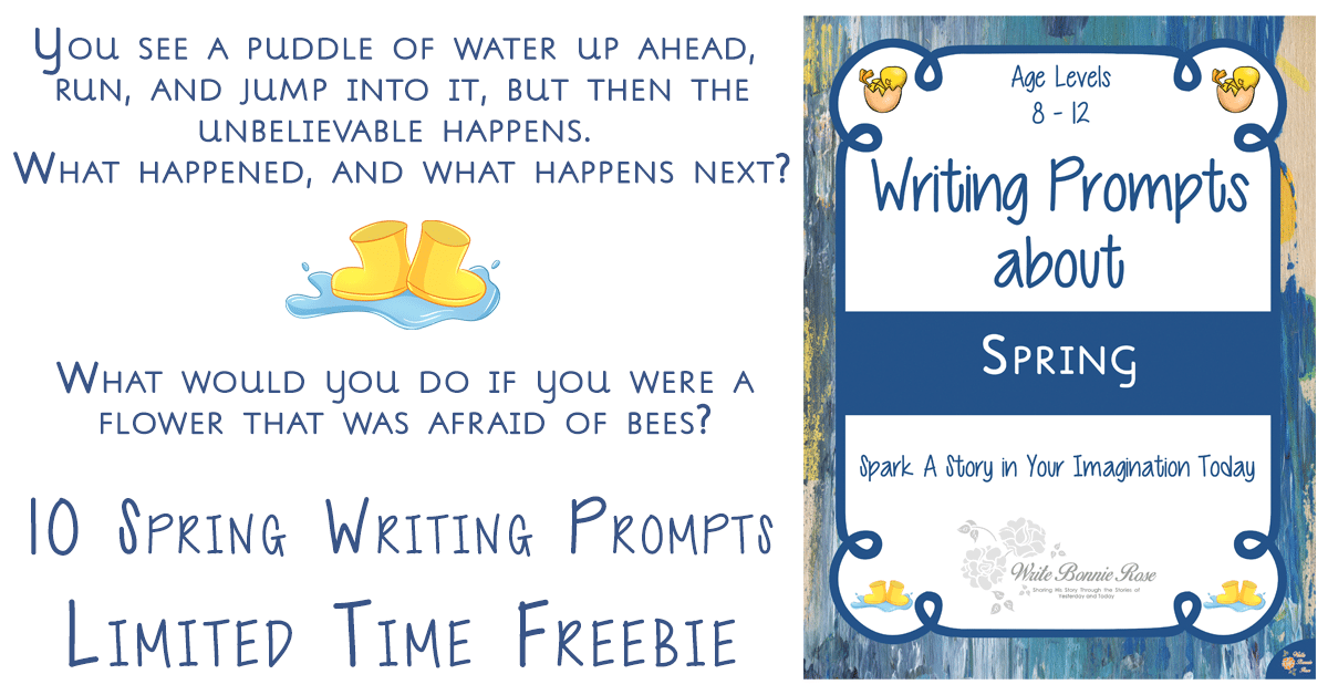 cover image of Spring Writing Prompts Limited Time Freebie