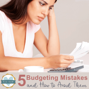 woman stressed over budgeting